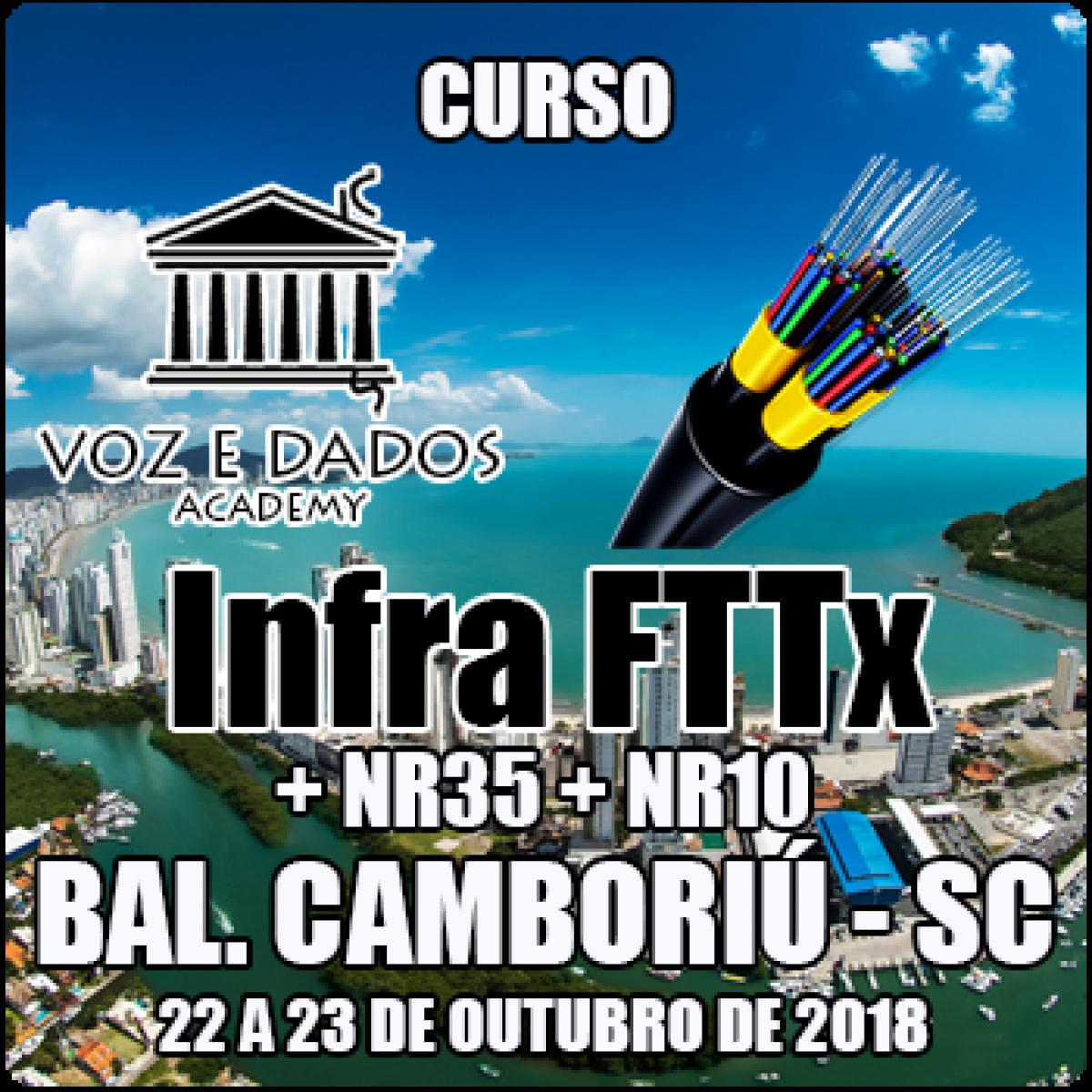 CURSO INFRA FTTX + NR35 + NR10