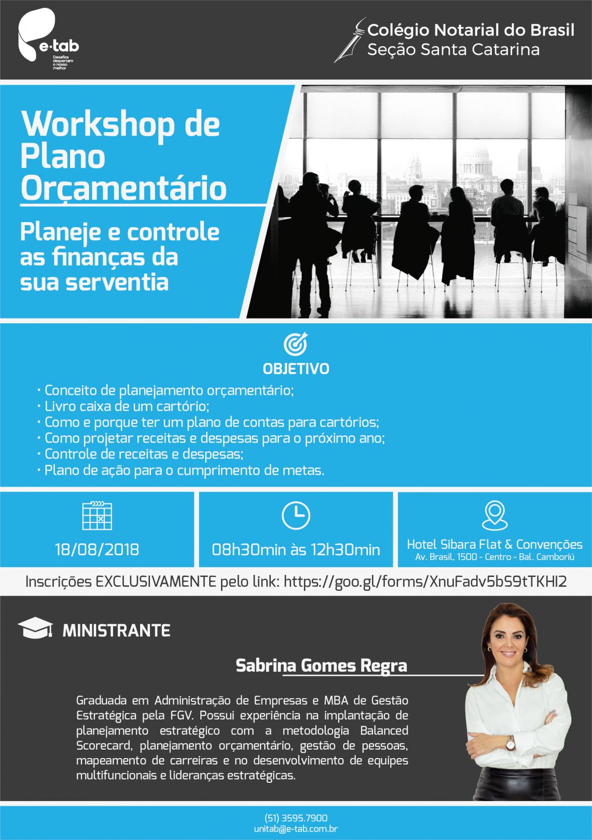 Workshop de Plano Orçamentário