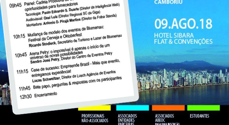 Hotel Sibara sedia debate sobre o cenário de eventos em Santa Catarina, realizado pela ABEOC